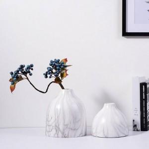 Vase en céramique décoratif de bureau Pots Planters marbre texture grain accent accent