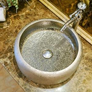 Style vintage céramique bassin art lavabo comptoir salle de bains lavabo en céramique lavabo lavabo lavabos argent
