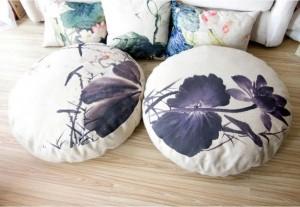 lotus d'encre Lotus Cushion reine circulaire coussin de futon Siège (épais) tatami Coussin de méditation yoga mat 80 * 80 * 15 cm