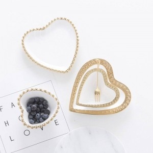 InsFashion - Coffret à dessert en céramique blanche et en forme de cœur, élégant et luxueux, en forme de cœur, pour fille de mode et pour le commerce de détail