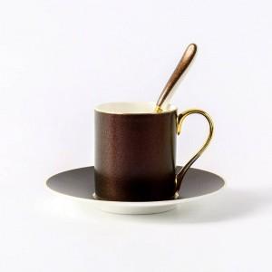 Tasse à café soucoupe étoilé nordique phnom penh tasse à café plat cuillère anglais après-midi fleur thé tasse de thé rouge