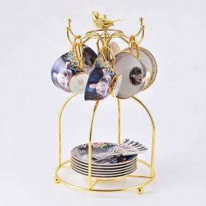Tasse à café set européenne luxe rétro céramique tasse à thé ensemble beauté Lady Bone porcelaine britannique thé avant-midi tasses à café