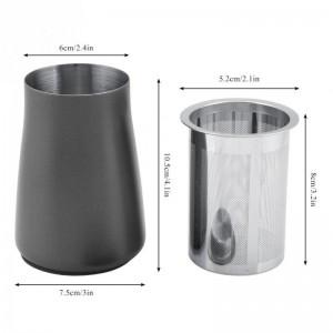 Accessoires de machine de meulage de tasse de filtre de poudre de café en acier inoxydable 304