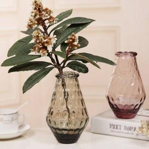 Cristal de table coloré vase en verre vase à fleur décor à la maison décoration de fête de mariage