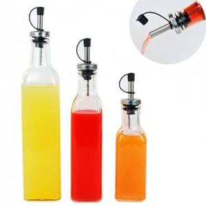 ustensiles de cuisine Lecythus 500ML bouteille de vinaigre en verre transparent ustensiles de cuisine ustensiles de cuisine bouteille buse bouteille 1pc