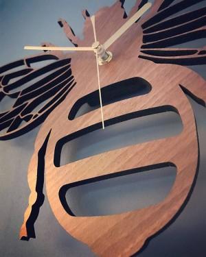 bambou créatif / bois abeille horloge murale jardin nature décoration tenture murale table horloges horloge à quartz salon chambre