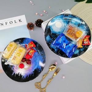 Creative Star assiette en céramique bijoux plateau de stockage gâteau dessert plat maison organisateur décoration assiette de fruits