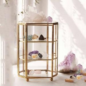 Boîte de rangement créative nordique en verre plateau de rangement de bijoux boîte à bijoux en verre transparent décoration de la maison ornements