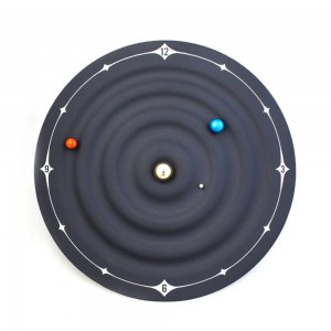 Horloge de table Creative Design moderne Orbit Galaxy Horloges Magnétiques Planet Ball Montre de Bureau Monté Au Mur ou Bureau Décor À La Maison 8 pouce