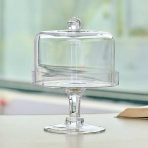 Creative transparent en verre avec couvercle dessert table gâteau rack poussière fruits couvercle snack plateau vaisselle décoration