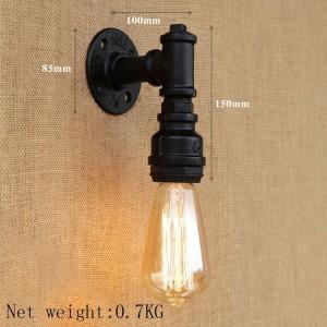 Lampe de mur rétro de Edison de pipe à eau, éclairage industriel noir / en bronze de lumière de fer de pipe à eau pour le restaurant café allée