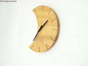 Creative horloge murale en bois Simple être calme salon chambre lune horloge horloge murale design moderne mur décoration
