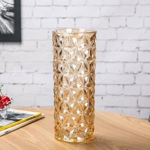 Vase en verre cristal européen grand ornements de décoration de maison vase