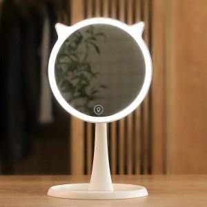 Mignon LED Lumière Maquillage Miroir Ménage Écran Tactile Maquillage Miroir Professionnel Vanité Avec LED Lumières Miroir Décor mx12281800
