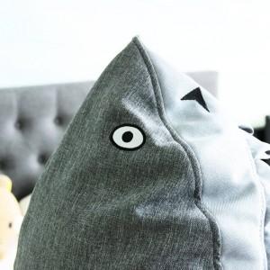 Mignon Petit Requin Enfant Tabouret Tabouret En Bois Chaise Avec Boîte De Rangement À L'intérieur Du Canapé Meubles Dessin Animé Ottomans Home Safe