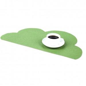 Tapis d'isolation anti-dérapant écologique de PVC Tapis d'endroit durable d'isolation thermique de tapis de table de tapis alimentaire occidental occidental
