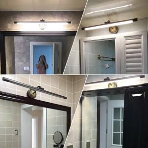 EU Cuivre Miroir Phares pour Salle De Bains LED Cabinet Lampe Américain Maquillage Hanglamp Home Deco Toilette Applique Murale Luminaires