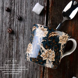 Tasse à café tasse à café tasse à café tasse à café poignée de tasse d'eau tasse 300ml Drinkware