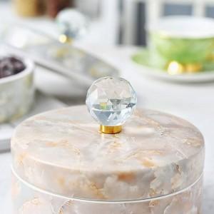 Bonbonnière en céramique européenne Boîte de stockage de stockage de ménage Snacks Assiette de fruits séchés Cadeaux