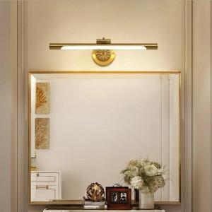 Lampe de miroir européenne de cuivre pour la salle de bains LED lampes de maquillage de mode maquillage Hanglamp Home Deco toilettes Wall Sconce Luminaires