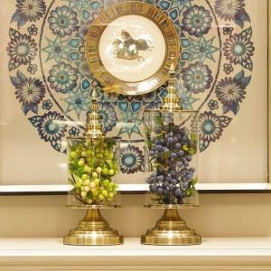 Vase européen en verre créatif beauté maison décoration réservoir de stockage pratique décoration modèle chambre décoration