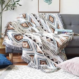 Géométrie européenne Energy Throw Blanket Sofa Couvre-lit décoratif Cobertor sur le canapé / Plaid Travel Plaid Couvertures de couture antidérapantes