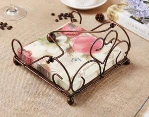 Porte-serviettes en fer de style européen cuisine, porte-serviettes de rangement dans la salle à manger
