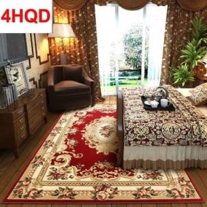 Style européen salon table basse tapis chambre lit chevet tapis tapis moderne minimaliste manuel coupe en trois dimensions flux