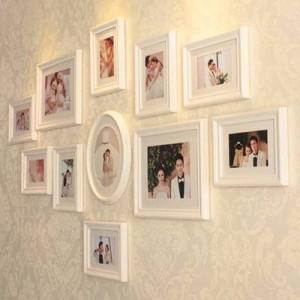 Combinaison créative de style européen avec cadre en bois, cadre de mur, combinaison créative de décoration élégante pour la décoration de mariage