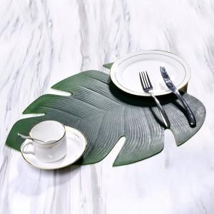 Tapis de table de forme de feuille de dos de tortue d'EVA imperméable à l'eau résistant à l'huile de napperon approprié aux festivals de famille restaurants occidentaux de restaurants
