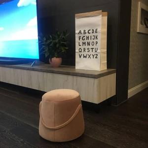 Tabouret en tissu salon moderne repose-pieds pour enfants