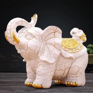Mode créatif européen rétro décoratif éléphant boîte de tissu tissu étude maison table décoration artisanat