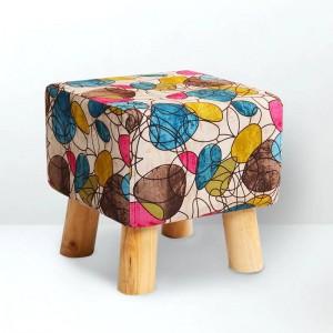 Mode Moderne Maison Créative Repose-pieds Petite Chaise Doublure Naturelle Doublure Chaussures Tabouret Support En Bois Massif Salon Salon Chambre Tabouret