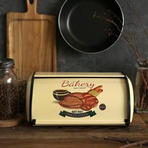 Français Vintage Pain Boîte De Rangement Bin Rollup haut gris clair petite poudre Enduit De Pain Fer Snack Boîtes Pour La Cuisine Décor À La Maison