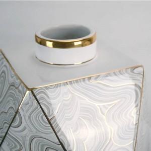 Vase en céramique géométrique de diamant de l'eau vase à la maison décoration décoration de luxe ornement