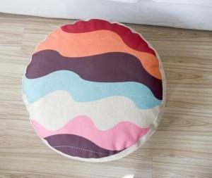 Motifs géométriques Couleur coussin à carreaux oreiller style paresseux lin méditation futon almohada tatami petits coussins de canapé 15cm d'épaisseur