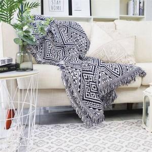 Géométrie labyrinthe jeter couverture canapé décoratif housse Cobertor décorations de Noël maison anti-dérapant couture plaid couvertures