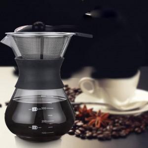 Machine expresso de fabricant de bouilloire de pot de café portatif de goutte express en verre avec le filtre en acier inoxydable Barista Pitcher Percolator