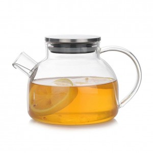 Verre théière tasse haute thé résistant à la chaleur de borosilicate mis Set sécurité à la chaleur et protection contre le déflagration thé ensemble avec main confortable