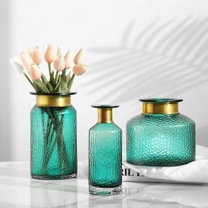 Vase en verre décoration de la maison hydroponique fleurs séchées décoration de bureau