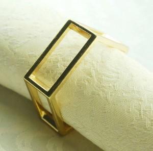 anneau de serviette en métal doré, porte-serviette pour mariage, 24 pcs