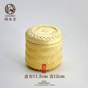 Main Bambou Bambou Réservoir De Stockage Réservoir De Stockage De Thé De Haute Qualité Fruits Secs Snack Panier De Stockage De Panier En Bambou Casquettes De Stockage pot