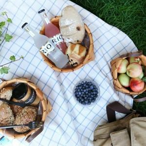 Fait à la main en bois paniers tissés légumes fruits pain oeuf stockage des aliments camping pique-nique collations conteneur sac de stockage de cuisine