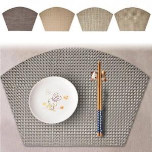 Tapis de vaisselle d'isolation thermique Tapis de table en forme de ventilateur multifonctionnel Tampon d'isolation efficace
