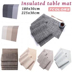 Protections antidérapantes de table résistantes à la chaleur pour la décoration innovatrice favorable à l'environnement de table de nappe de protection de l'environnement