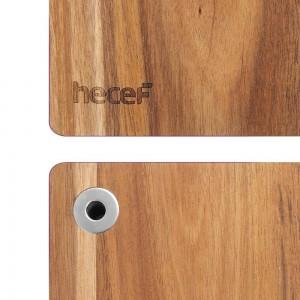 Planche à fromage en bois acacia avec plateau de service et couteau à fromage polyvalent, planche à découper avec couteau intégré