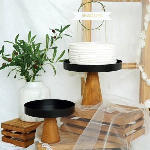 Support haut en bois plateau de cuisine créative plateaux de service multi-usage Eco Naural bois desserts / plateau de fruits de mariage décor à la maison