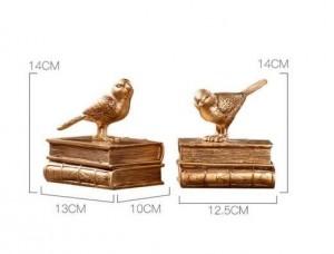 Accessoires de décoration de la maison Moderne serre-livre Book Stop Fairy Garden Vintage Home Decor Or Bird Miniature Garden Paris
