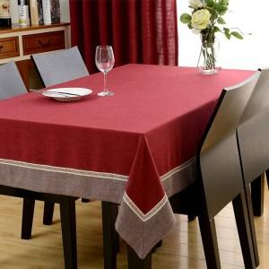 Chaude Européenne Garniture Rectangle Nappe Chenille Couverture De Table À Manger Pour Mariage TV Cabinet Coussin Paquet Élégant Nappe