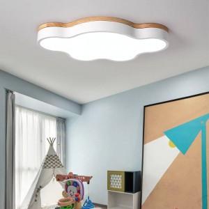 Chaud mince led plafonniers lampes de chambre moderne avec Couleur polarizer luminaria lampes enfant luminaire lampe déco avec En Bois